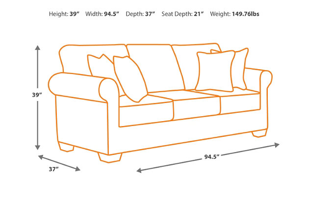 Couch Depth navasota sofa | ashley furniture homestore