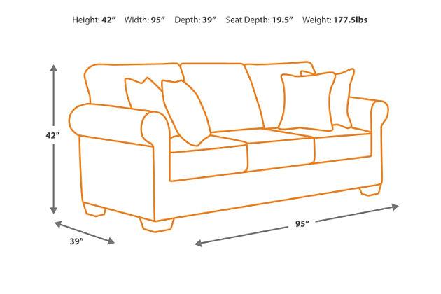 North Shore Sofa, Dark Brown, large