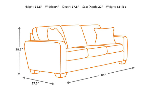 Couch Depth alenya sofa | ashley furniture homestore