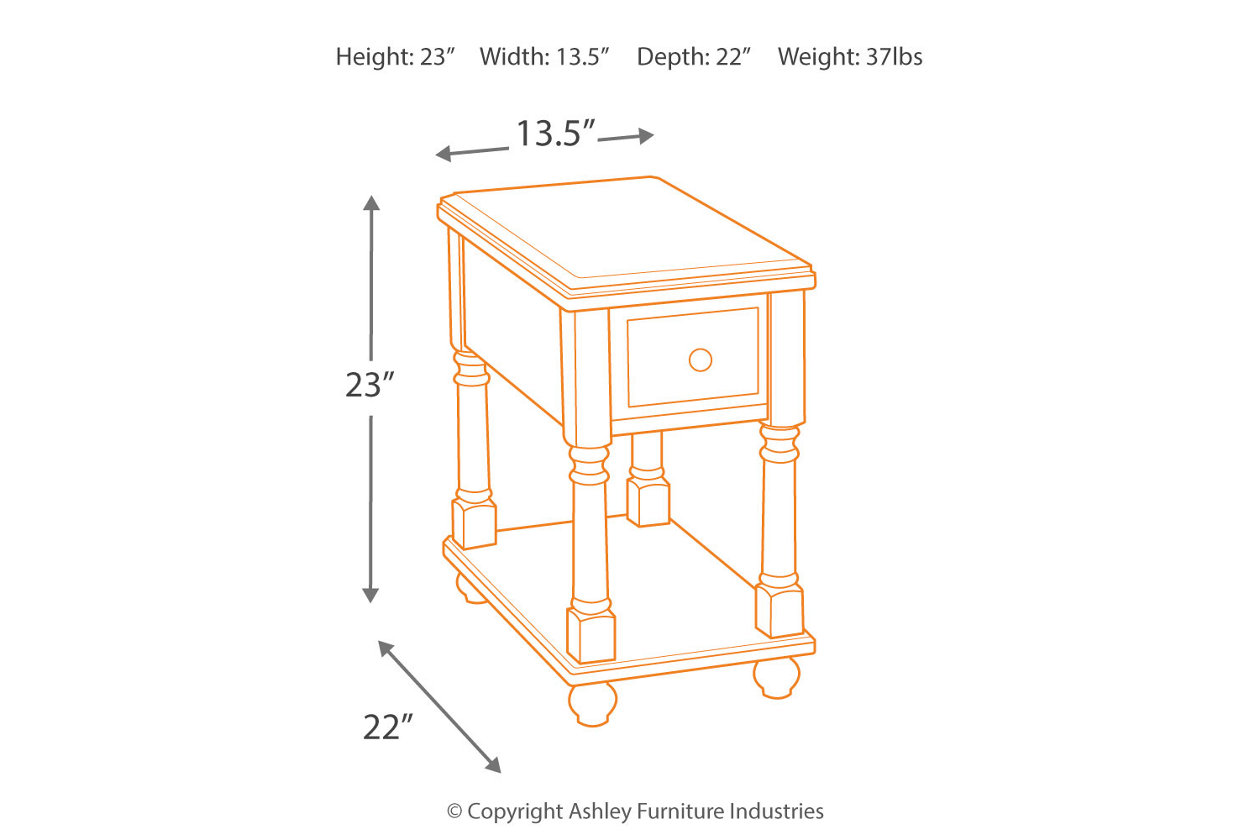 breegin chairside end table | ashley furniture homestore