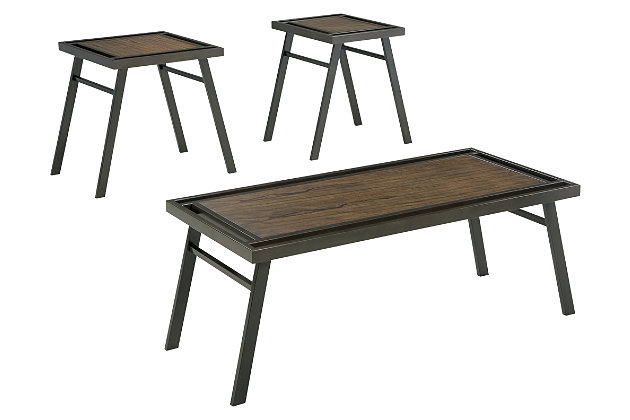 Farna Table (Set of 3) by Ashley HomeStore, Brown