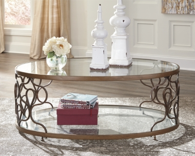 Fraloni Coffee Table by Ashley HomeStore, Bronze Finish