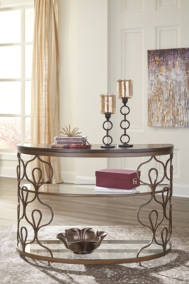 Fraloni Sofa/Console Table by Ashley HomeStore, Bronze Fi...