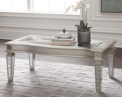 Ashley Tessani Coffee Table, Silver