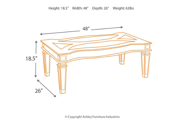 Tessani Coffee Table, , large