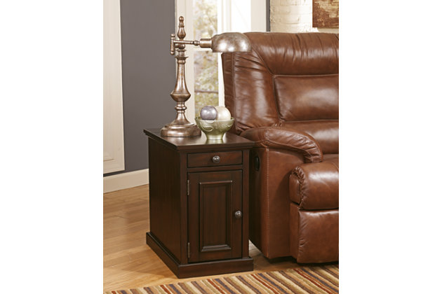 wood chair side end table with storage  sc 1 st  Ashley Furniture HomeStore & Laflorn Chairside End Table | Ashley Furniture HomeStore islam-shia.org