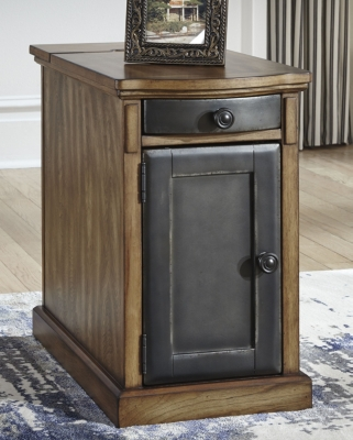 Image of Laflorn Chairside End Table, Brown/Gray
