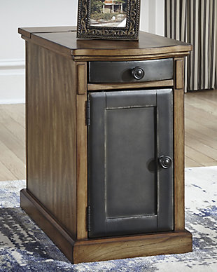 Laflorn Chairside End Table with USB Ports & Outlets, , rollover
