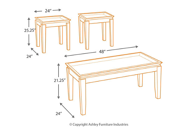 Delormy Table (Set of 3), , large