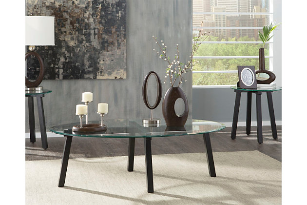 Black Iselle Table (Set of 3) by Ashley HomeStore