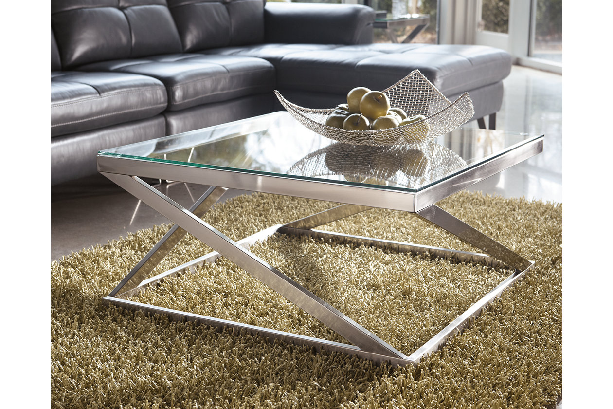 Living Room Table Sets Ashley Furniture Contemporary Nickel ...
