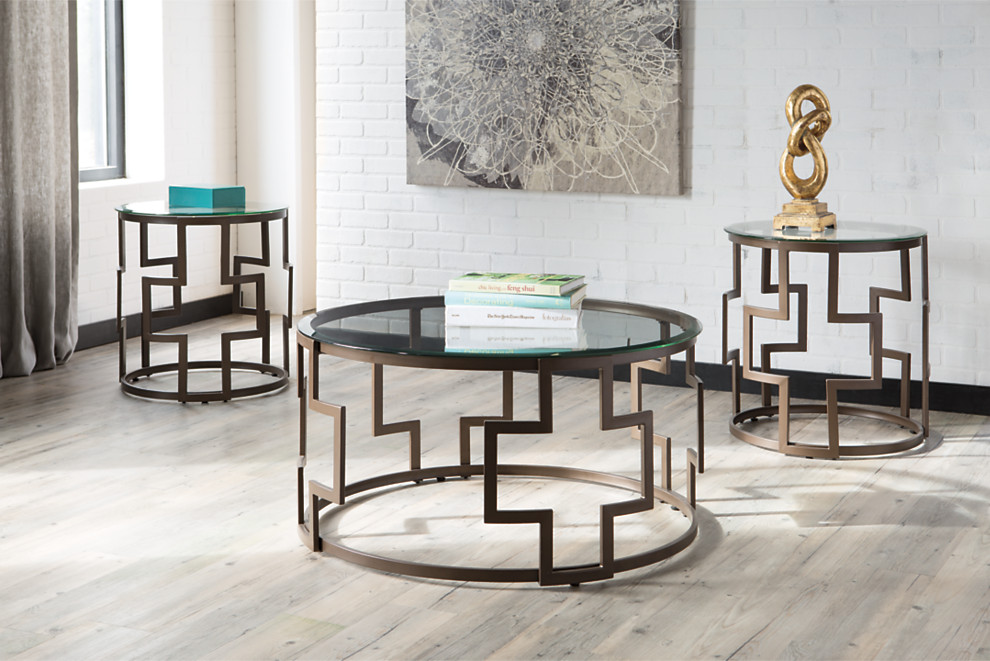 Frostine Occasional Table Set (3/CN) - Corporate Website of Ashley ...