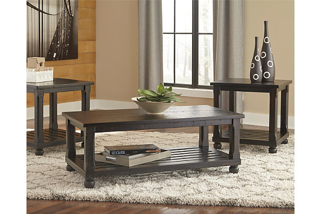 Mallacar Table Set Of Ashley Furniture HomeStore - Ashley mallacar coffee table