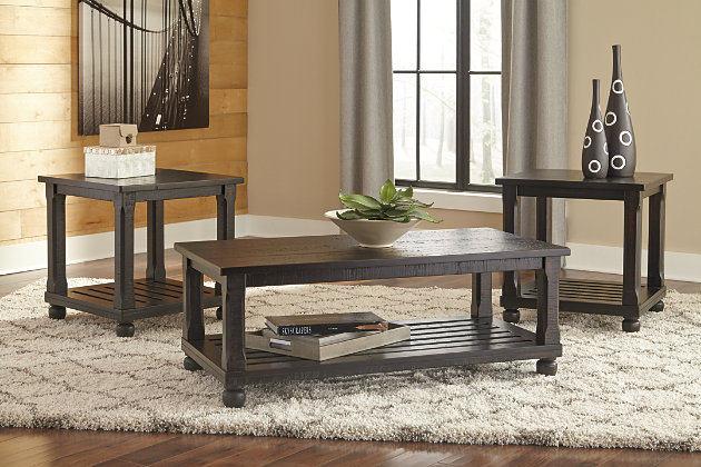 Black Mallacar Table (Set of 3) by Ashley HomeStore