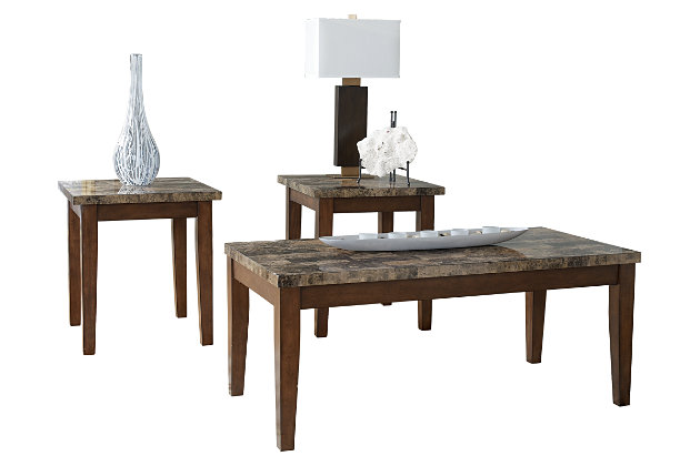 Theo Table (Set of 3) by Ashley HomeStore, Brown