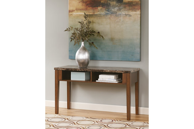 Theo Sofa/Console Table by Ashley HomeStore, Brown