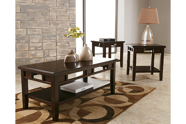 Logan Table (Set of 3) by Ashley HomeStore, Brown