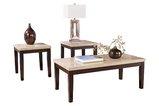 Wilder Table (Set of 3) by Ashley HomeStore, Brown