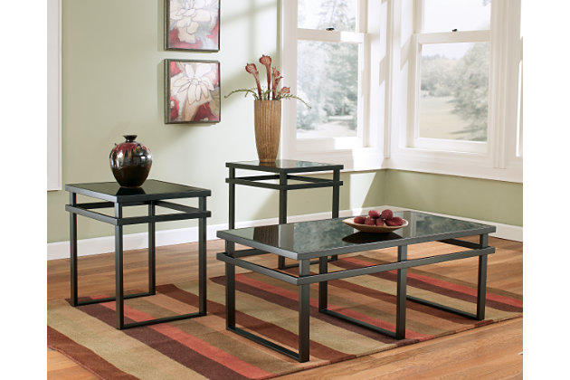 Black Laney Table (Set of 3) by Ashley HomeStore