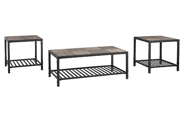 Chelner Table (Set of 3) by Ashley HomeStore, Gray