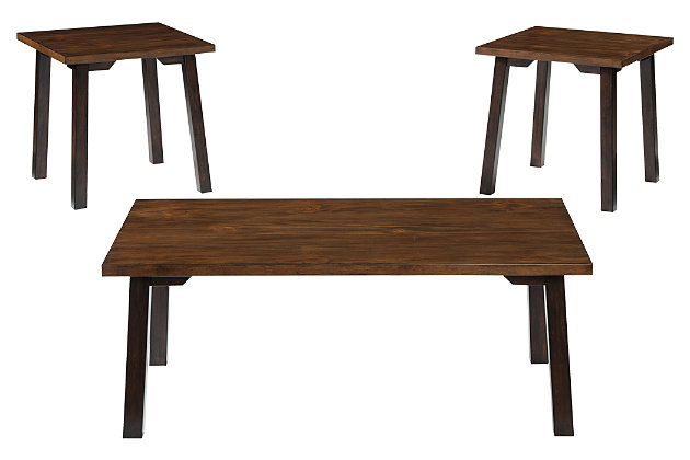 Latoon Table (Set of 3) by Ashley HomeStore, Brown
