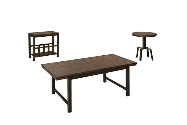 Riggerton Table (Set of 3) by Ashley HomeStore, Brown