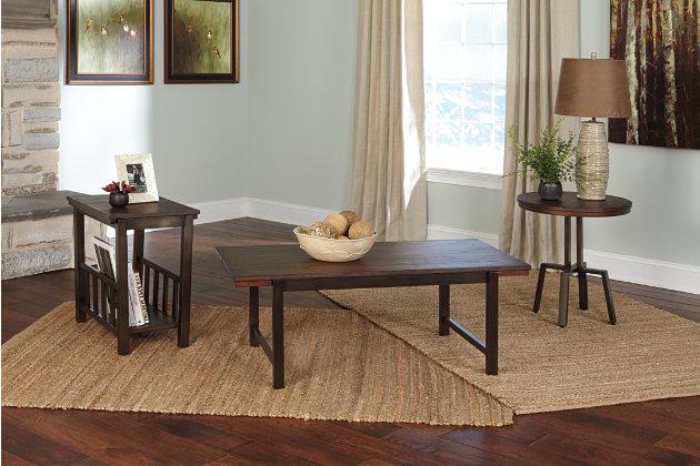 riggerton table (set of 3)   ashley furniture homestore