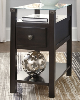 Image of Diamenton Chairside End Table, Almost Black