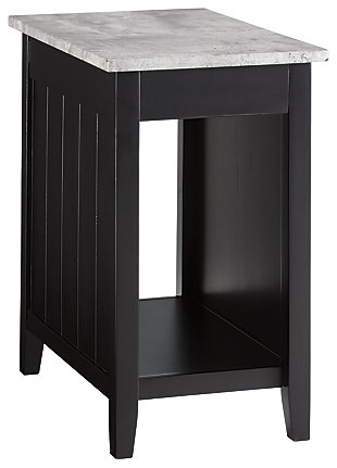 Diamenton Chairside End Table With Usb Ports Outlets