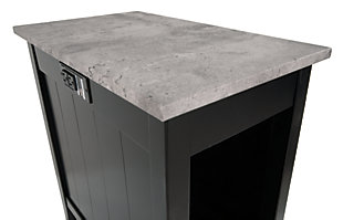 Diamenton Chairside End Table with USB Ports & Outlets, , large