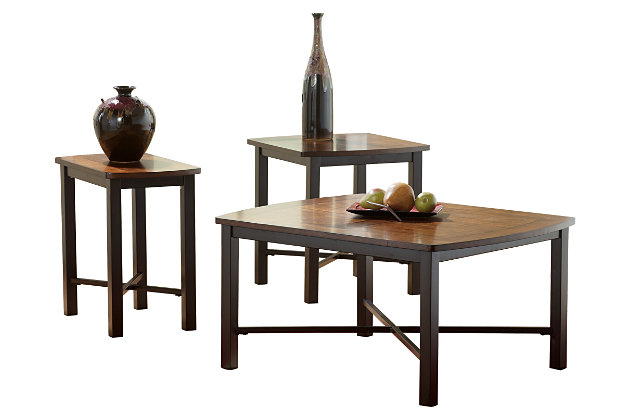 Fletcher Table (Set of 3) by Ashley HomeStore, Brown