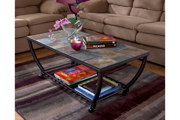 Antigo Coffee Table by Ashley HomeStore, Black