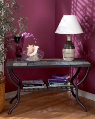 Ashley Antigo Sofa/Console Table, Black