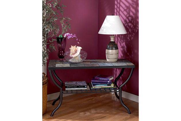 Black Antigo Sofa/Console Table by Ashley HomeStore