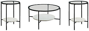 Zalany Coffee Table with 2 End Tables, , large