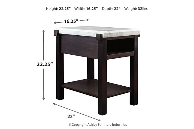 Janilly Chairside End Table, , large