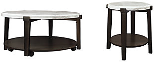 Janilly Coffee Table with 1 End Table, , large