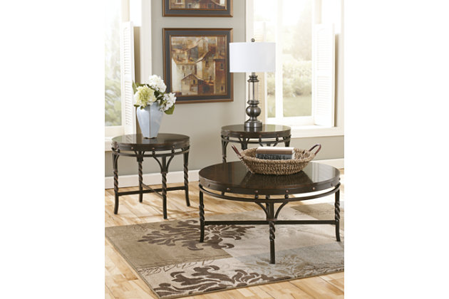 Brown Brindleton Table (Set of 3) by Ashley HomeStore