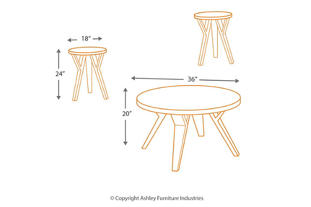 Ingel Table (Set of 3), , large
