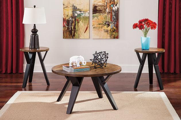 ingel table (set of 3) | ashley furniture homestore