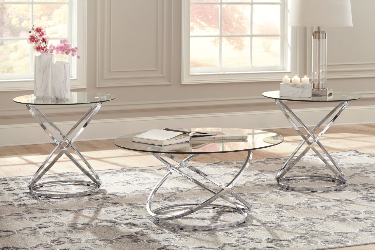 Hollynyx Table Set Of 3 Ashley Furniture Home