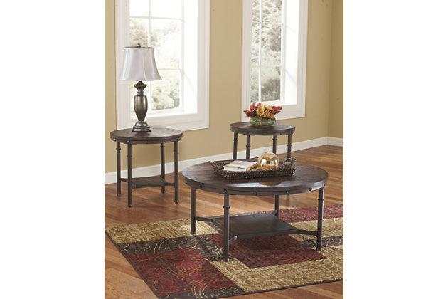 Rustic Brown Sandling Table (Set of 3) View