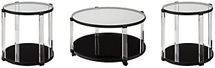 Delsiny Coffee Table with 2 End Tables, , large