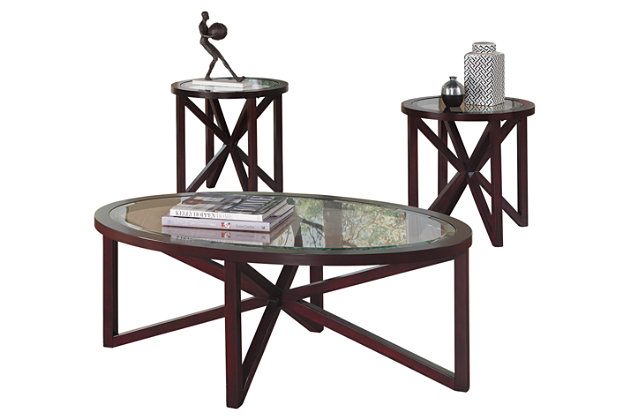 Sleffine Table (Set of 3) by Ashley HomeStore, Brown