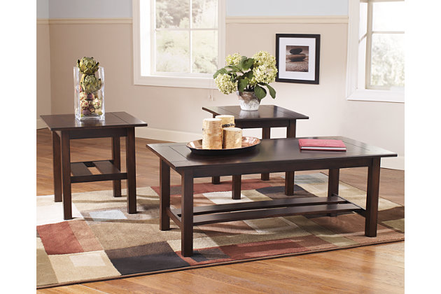 Lewis Table (Set of 3)  large ...  sc 1 st  Ashley Furniture HomeStore & Lewis Table (Set of 3) | Ashley Furniture HomeStore