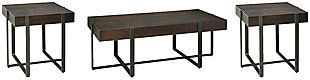 Drewing Coffee Table with 2 End Tables, , large
