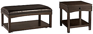 Haddigan Coffee Table with 1 End Table, , large