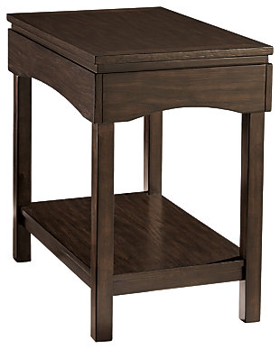 haddigan chairside end table with usb ports outlets ashley furniture homestore. Black Bedroom Furniture Sets. Home Design Ideas