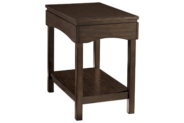Haddigan Chairside End Table with USB Ports & Outlets, , large