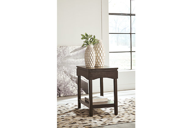 Haddigan Chairside End Table With Usb Ports Amp Outlets